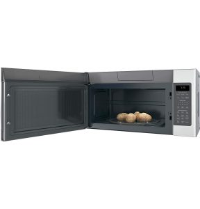 see the microwave when the door is opened and put something to prepare