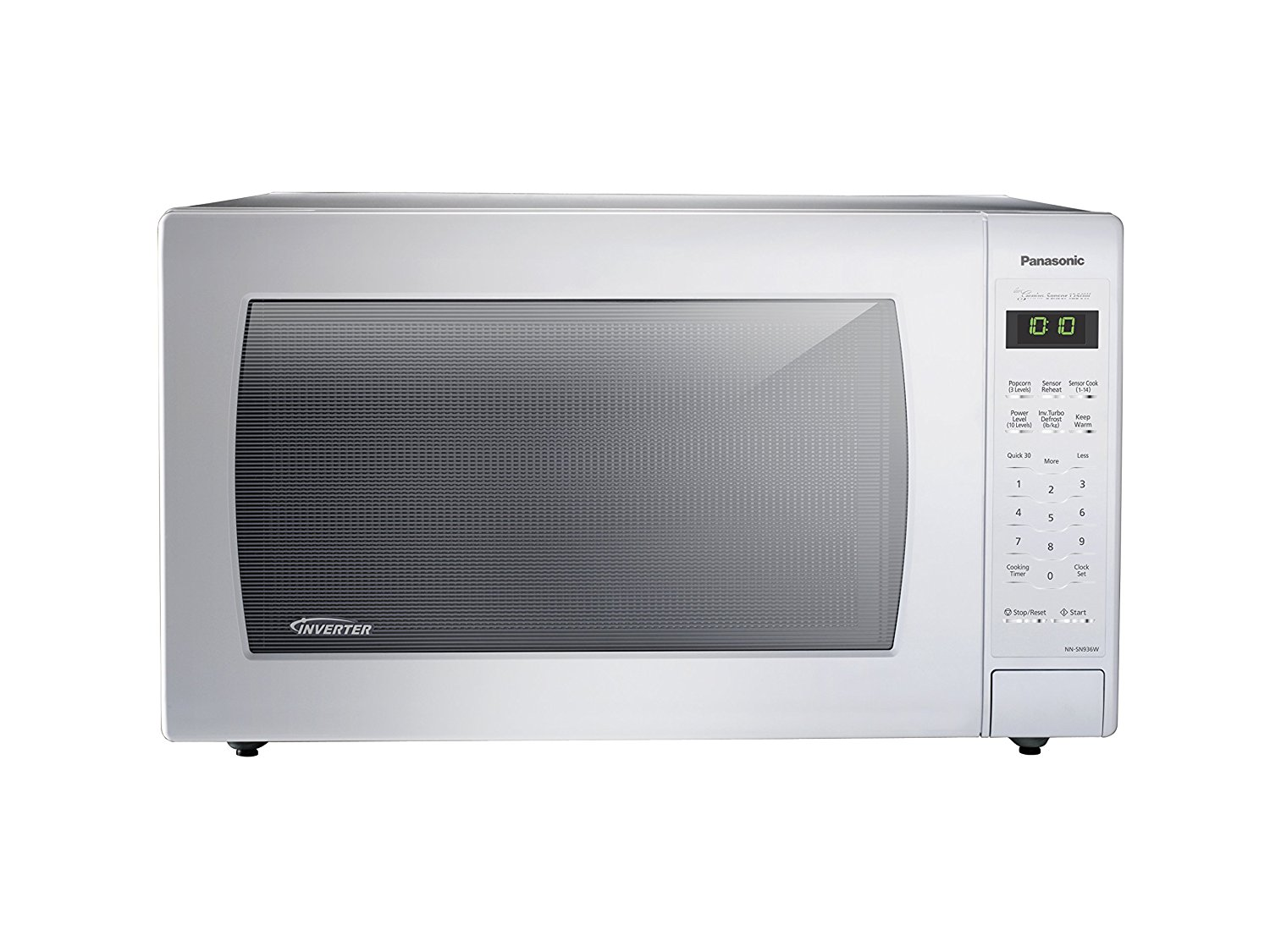 Panasonic NN-SN936W 2.2 Cu. Ft. 1250W Countertop Microwave with Inverter Technology