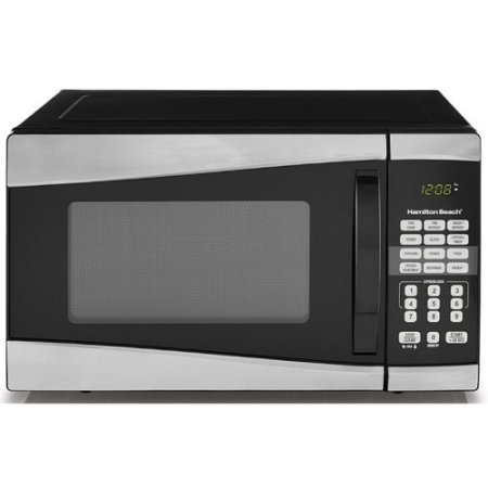 Hamilton Beach 0.9 cu ft 900W Microwave, Stainless Steel /900 watts power/10 power levels