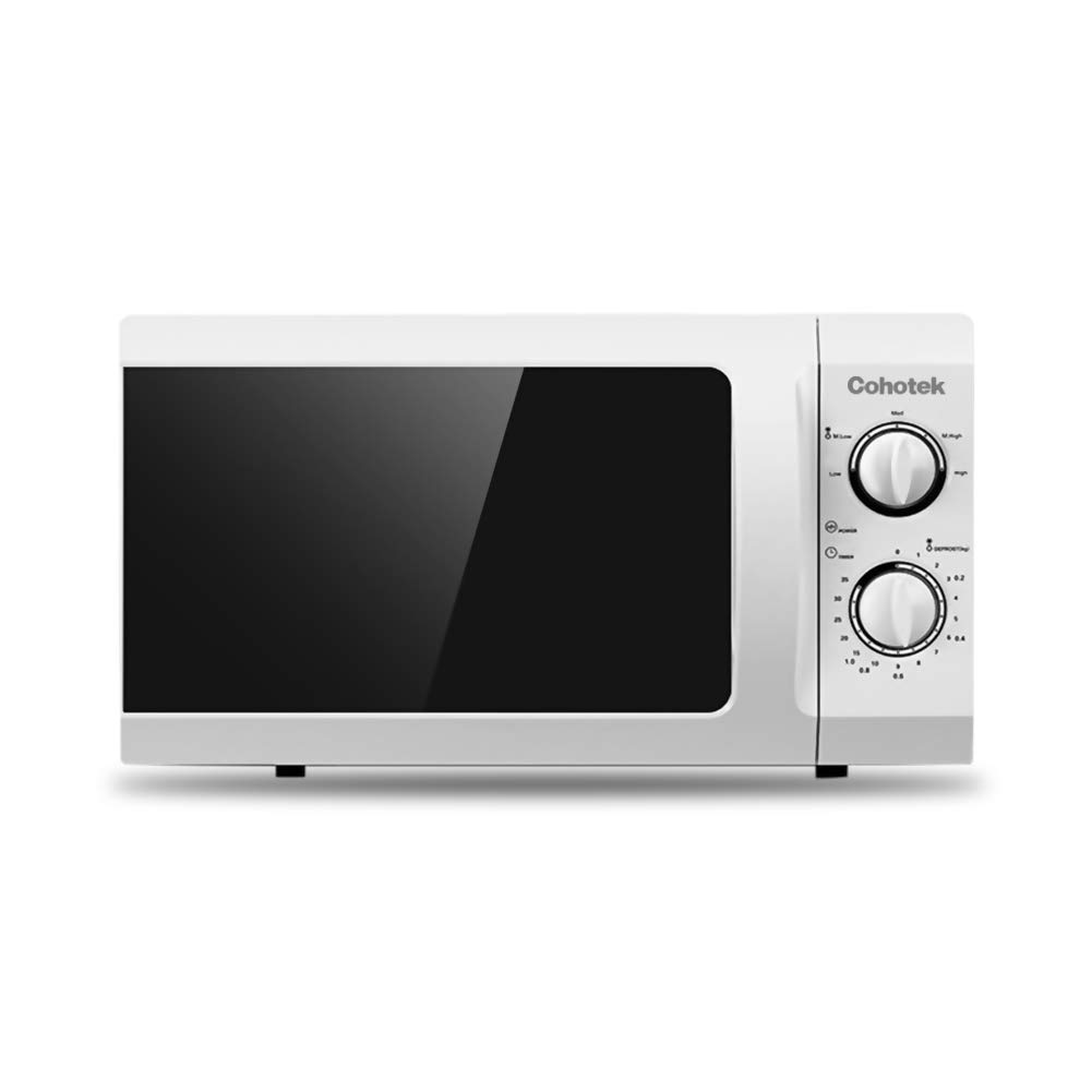 Cohotek Microwave Oven with Sound On/Off ECO Mode and LED Lighting, 0.9 Cu.ft, White