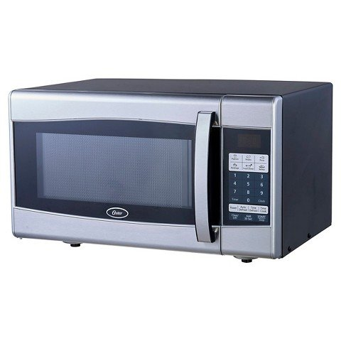 Oster 0.9 Cu. Ft 900 watt Digital Microwave Oven-Black & Stainless Steel