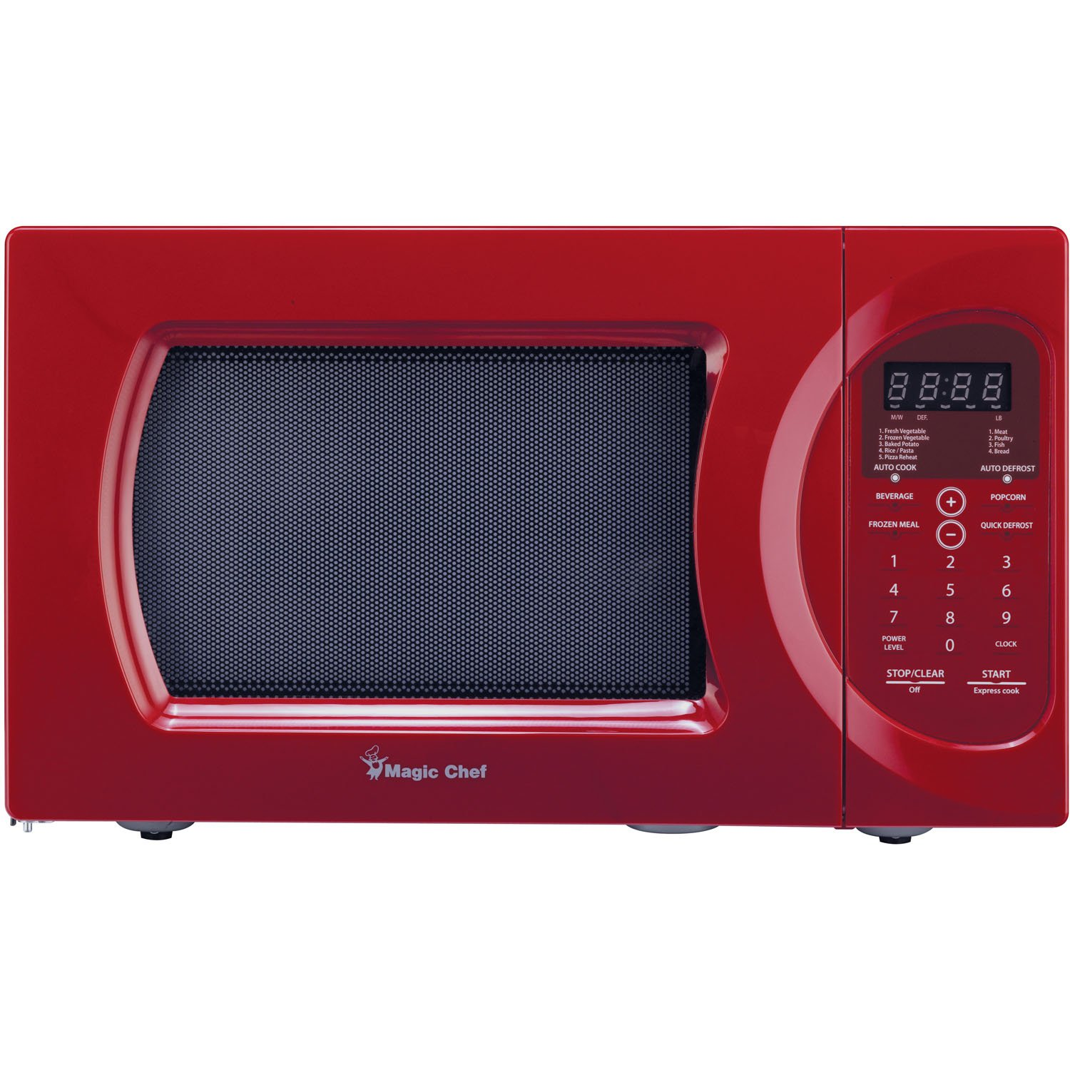 magic chef mcd992r 0 9 cu ft 900w oven in red countertop microwave