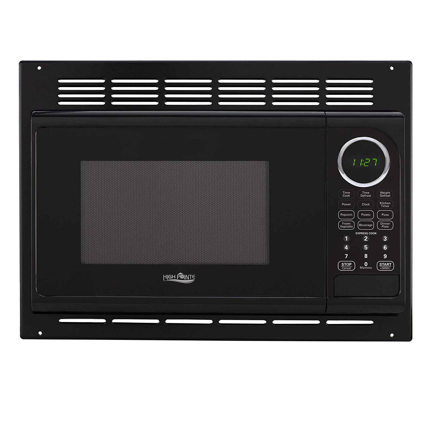 RV Microwave | .9 Cubic Ft Black Microwave with Trim Kit | 900 Watt (RPM-1-BLK)