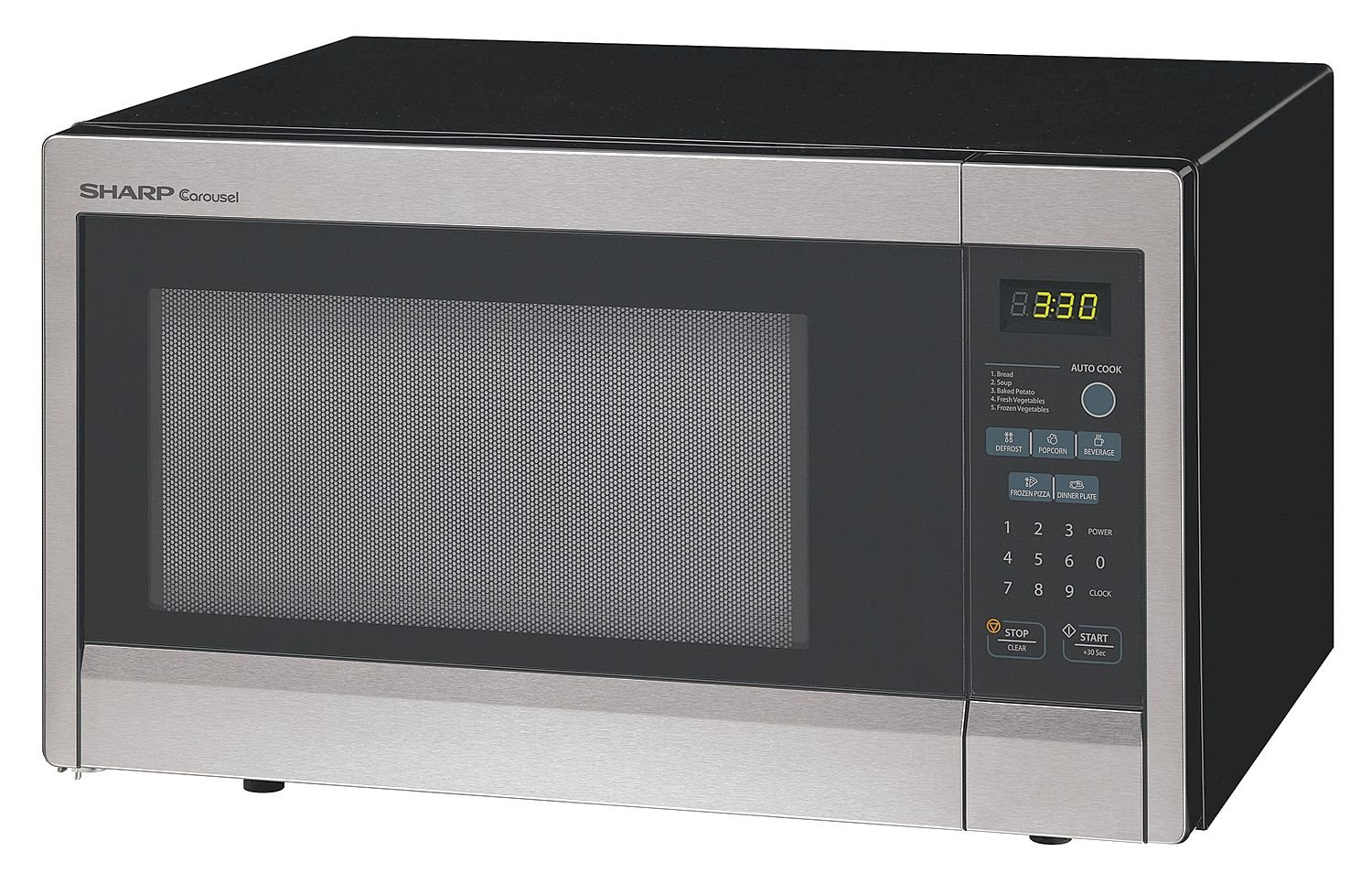 SHARP R331ZS Microwave Oven,SS,1000W