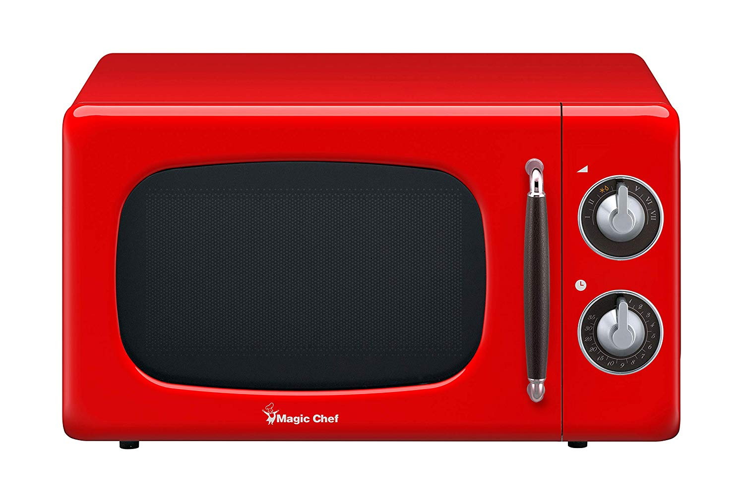 Magic Chef MCD770CR 0.7-Cu. Ft. 700W Retro Countertop Microwave Oven in Red.7 Cu.Ft