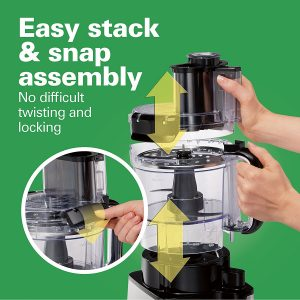 easy stack and snap assembly