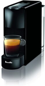 Breville-Nespresso USA BEC220BLK1AUC1 Nespresso Essenza Mini Espresso Machine with Complimentary Capsules, Piano Black