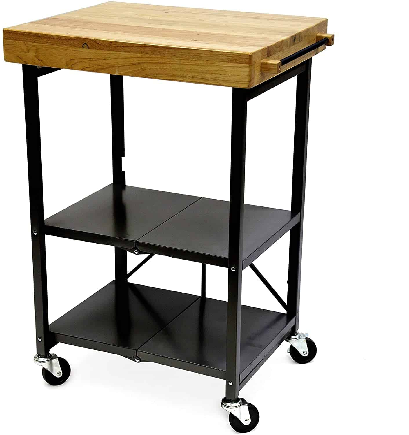 Origami Folding Kitchen Cart on Wheels