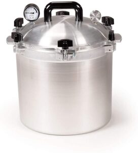 pressure canner and cooker by all american - 21.5 quart size