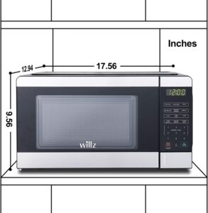 dimensions of Willz 0.7 cubic foot microwave oven