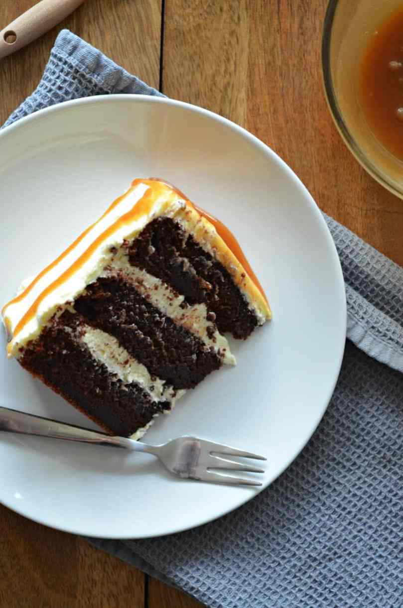 chocolate-layer-cake-vanilla-frosting-salted-caramel-drizzle