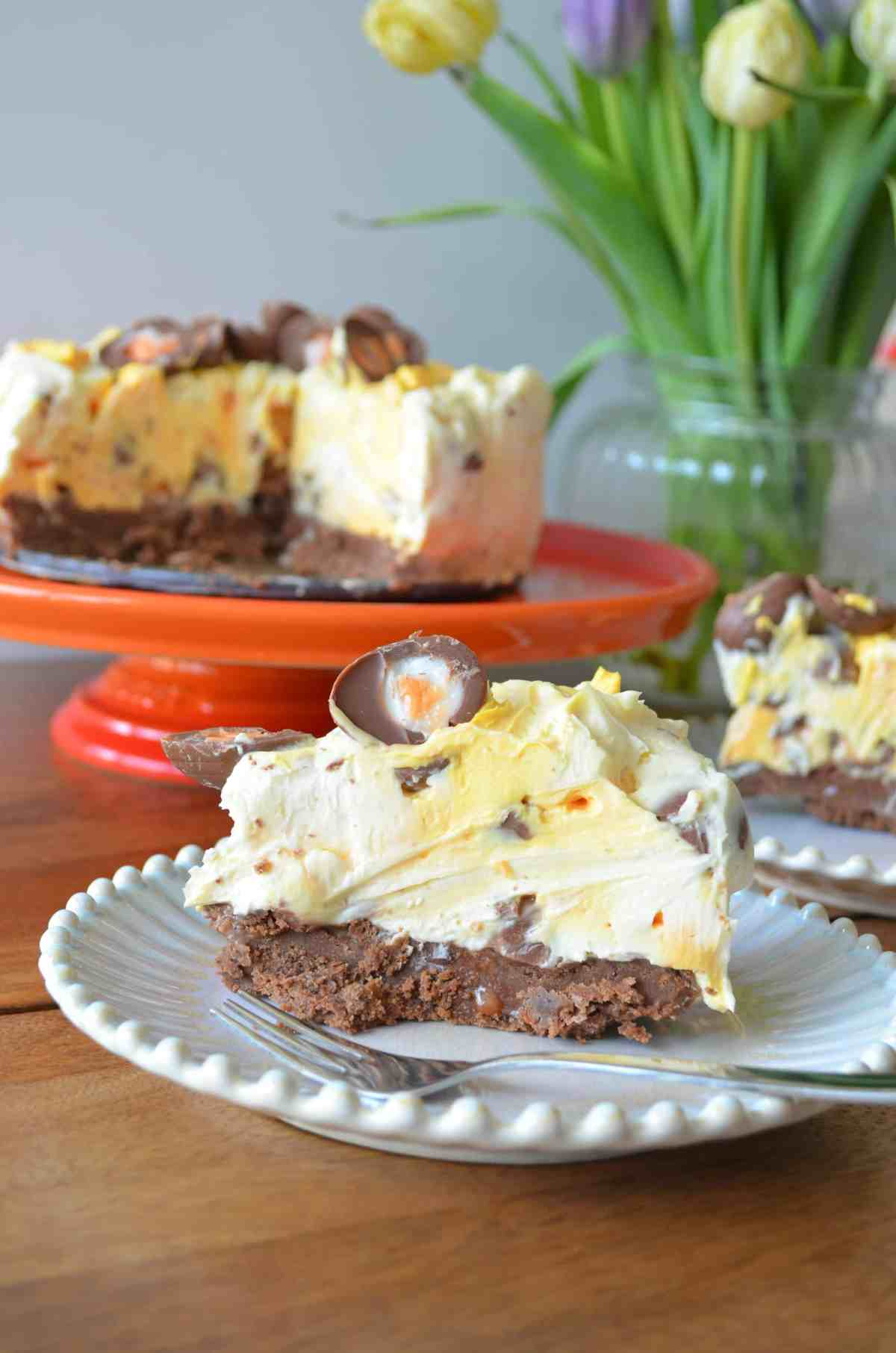 no bake creme egg cheesecake