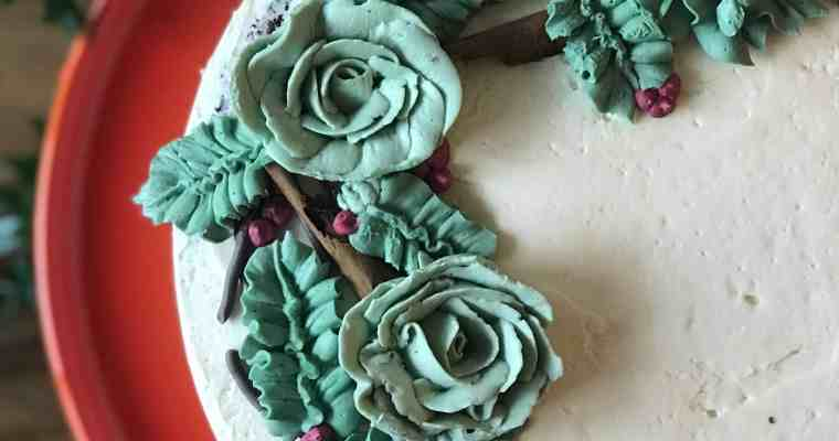 Christmas Wreath Layer Cake