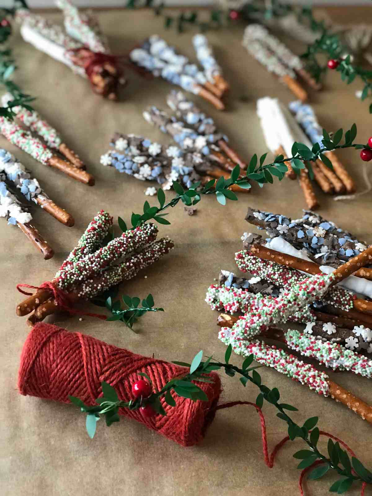 candy pretzel rods