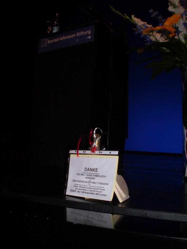 Friedenstaube brachte die Auszeichnung