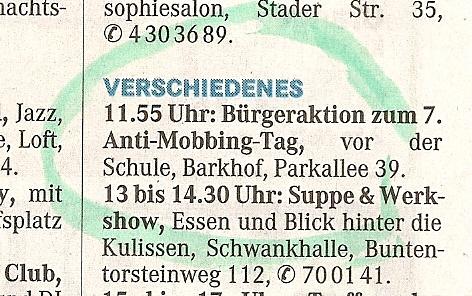 7. Anti-Mobbing-Tag in Bremen / Dr. Peter Wickler wurde mit dem Anti-Mobbing-Award 2010 aus Berlin ausgezeichnet (1/6)