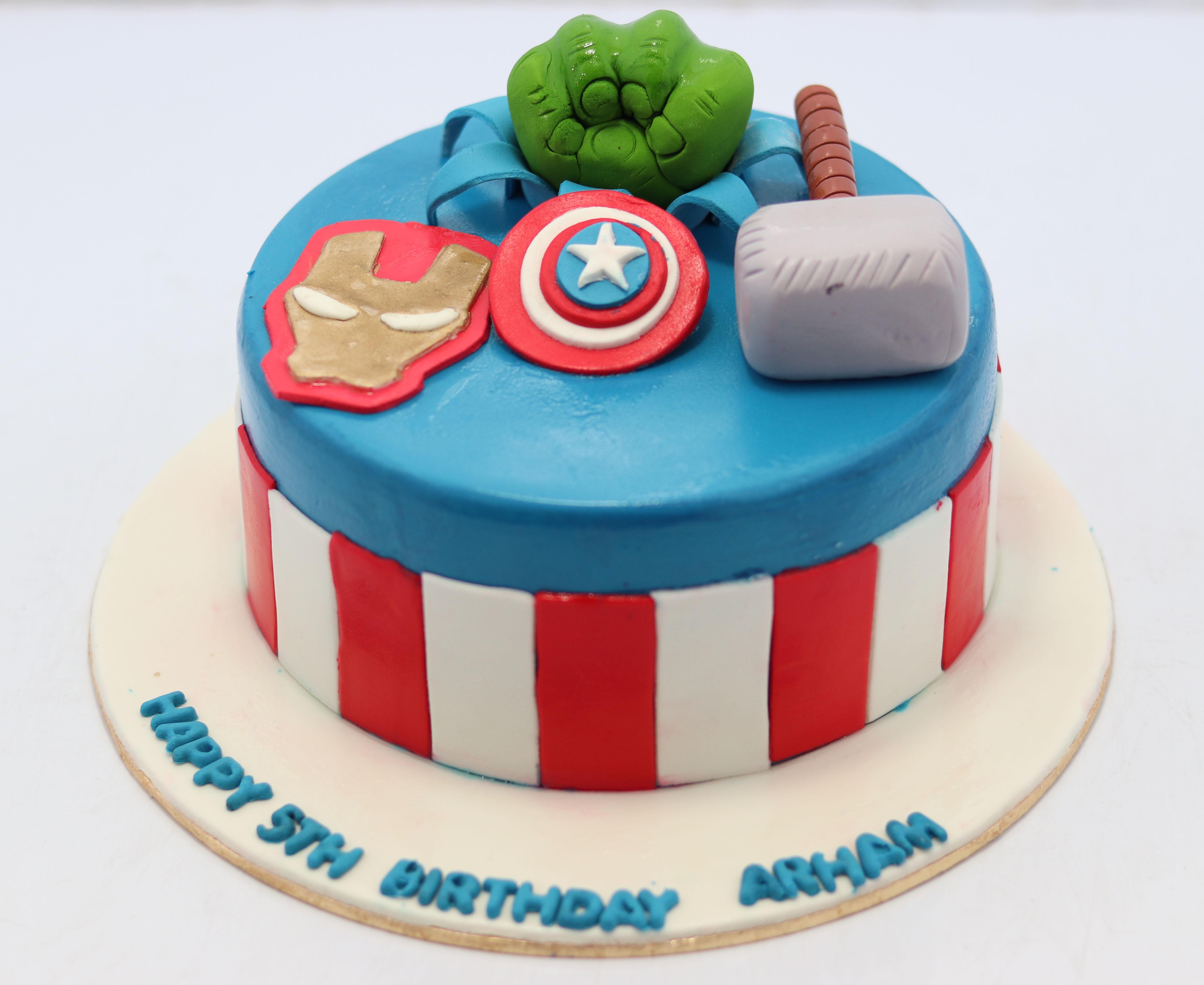 Sensational Super Hero Birthday Cake Superhero Cakes Images Personalised Birthday Cards Epsylily Jamesorg