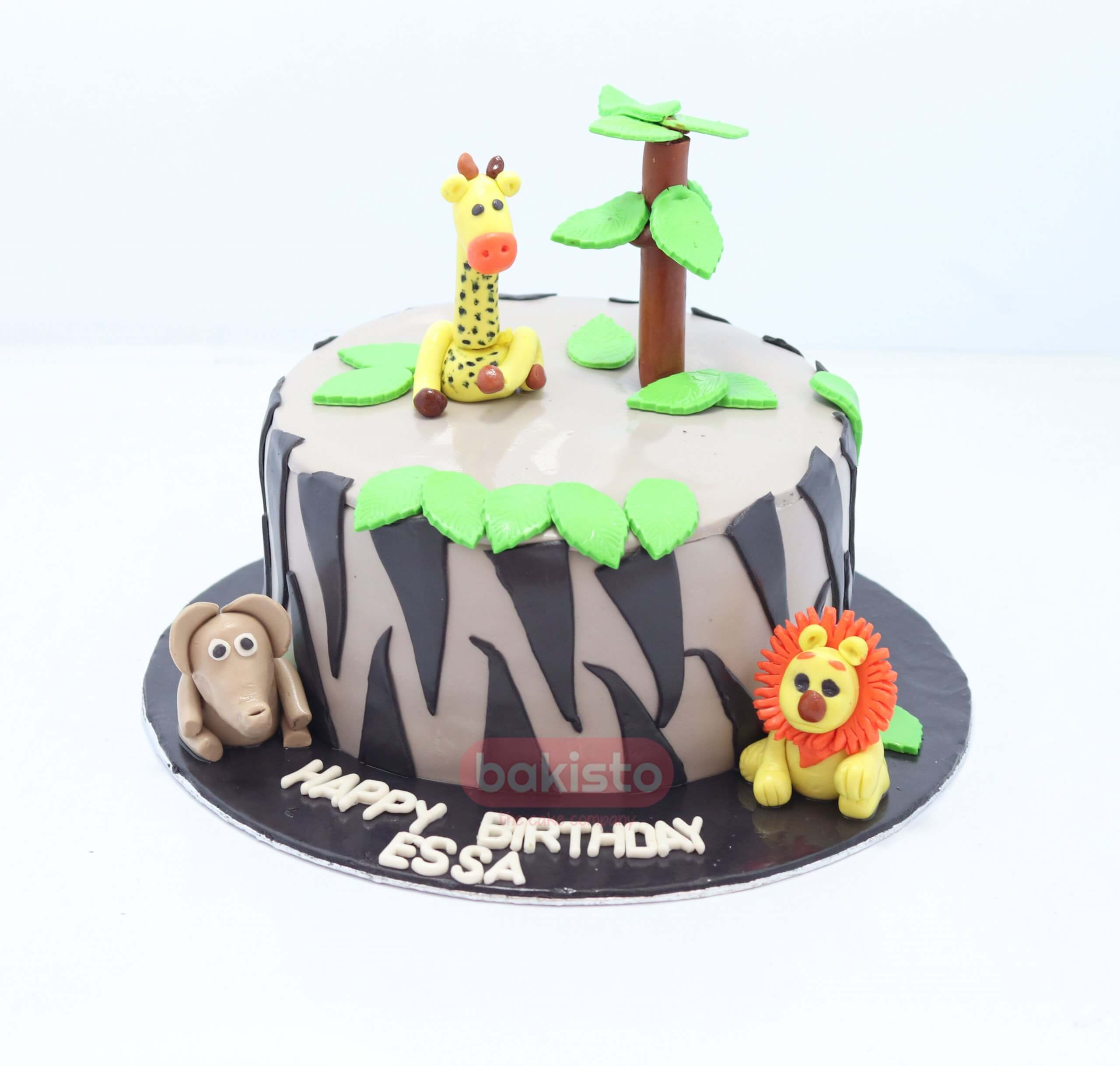Surprising Customized Zoo Theme Birthday Cake By Bakisto The Cake Company Funny Birthday Cards Online Amentibdeldamsfinfo