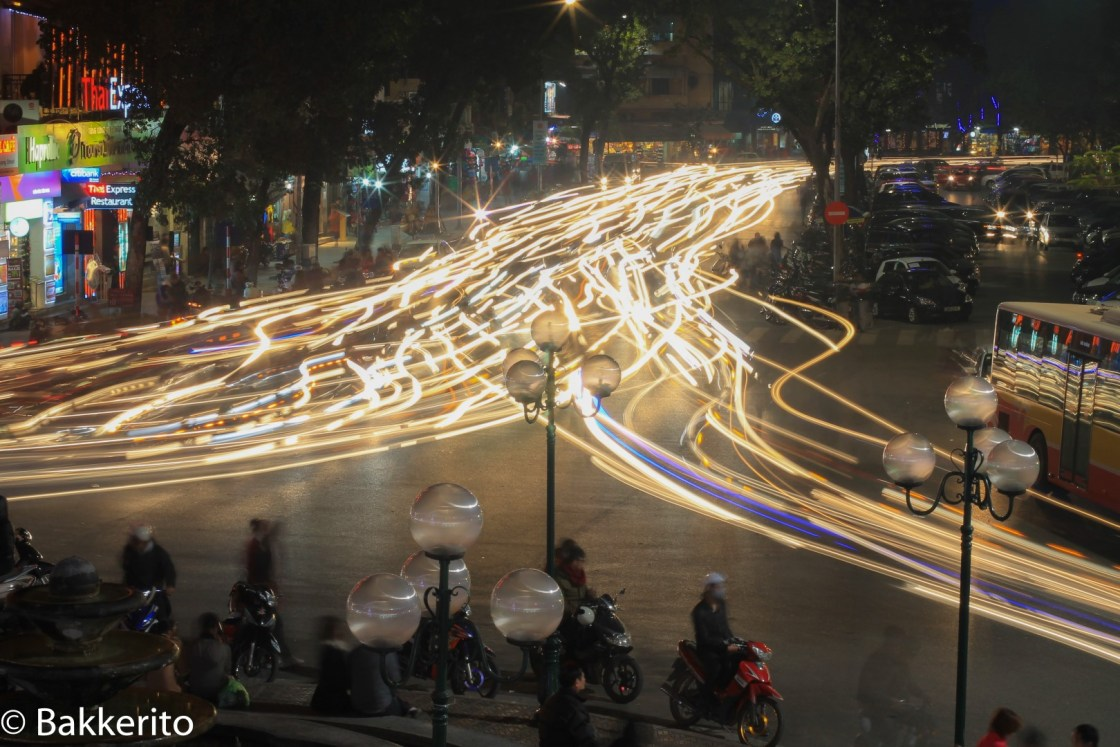 Busy Hanoi at night