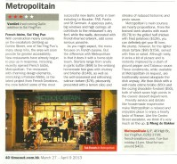 Time Out - 127 - Metropolitain Review