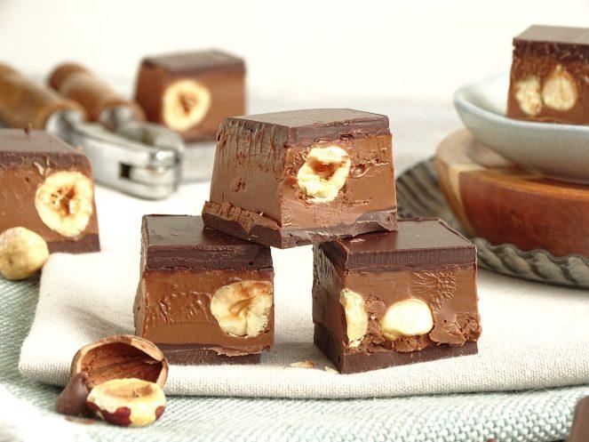 Pure chocolade - Gianduja blokjes