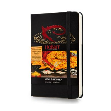 Moleskine Cuaderno, tamaño de bolsillo Hobbit, color blanco (Moleskine Limited Edition) Tapa Dura_bakoneth