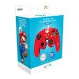 Mando Fight Pad Con Cable, Diseño De Mario (Wii U)