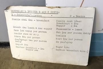 Prisoner food rations