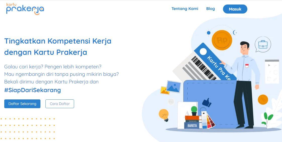 tangkapan layar laman program kartu prakerja