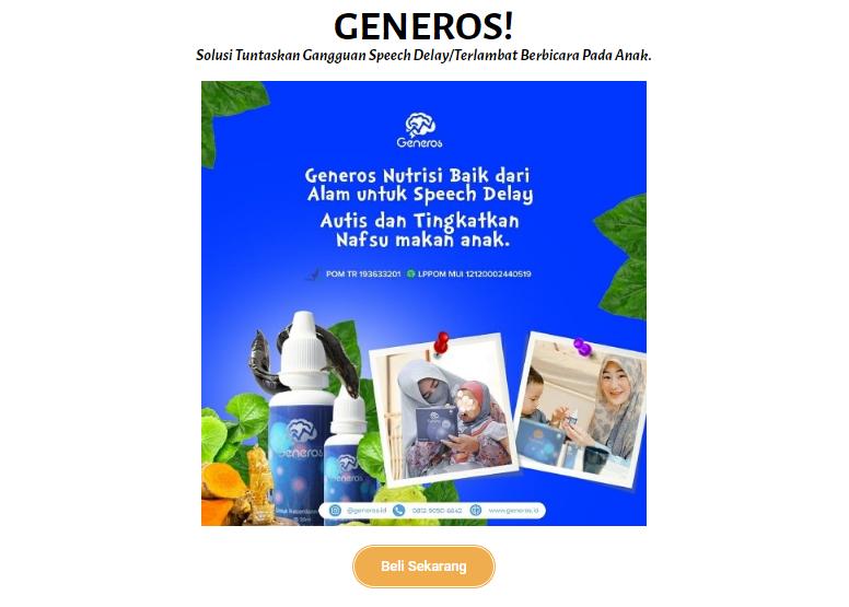 landing page generos