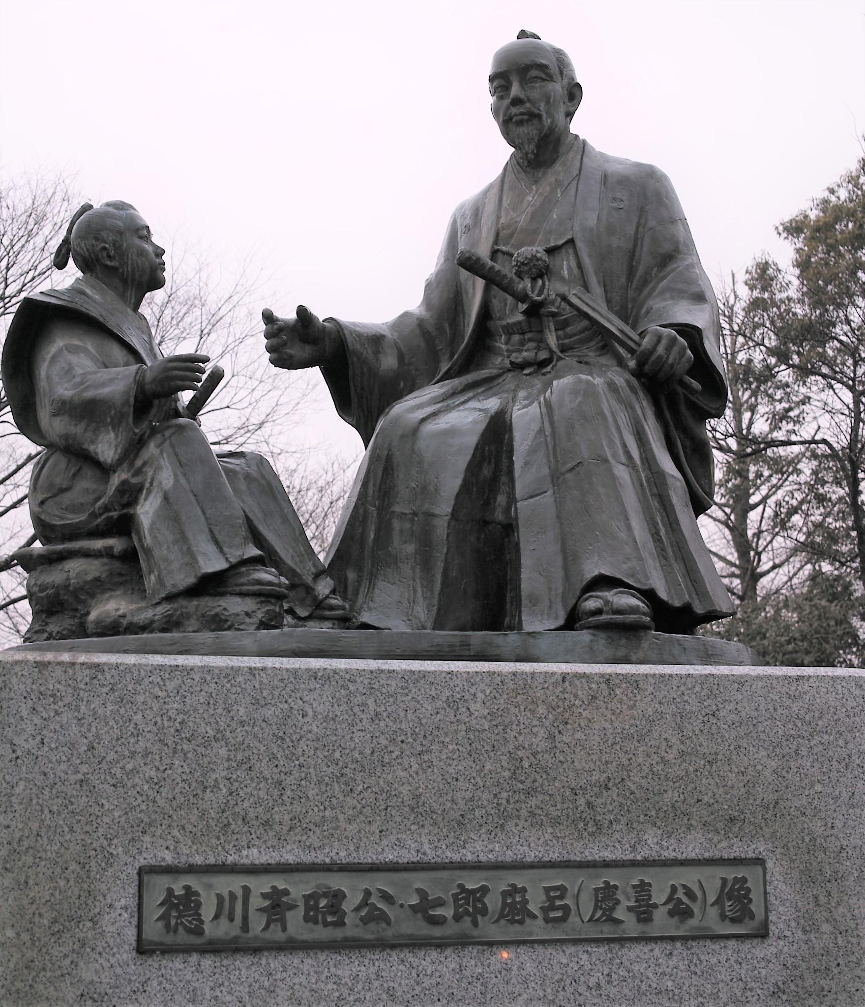 【偕楽園】慶喜の実父,徳川斉昭が作った日本三名園!千波湖には親子の像が建つ