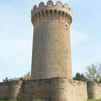 Mardakan Round Tower. Mardakan Round Castle in Baku, Azerbaijan