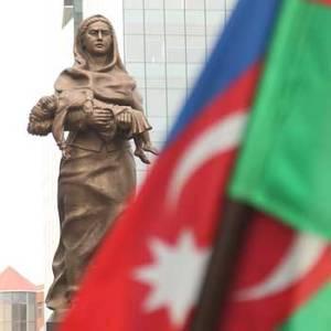 Khojaly Genocide Memorial in Baku. Khojaly massacre monument