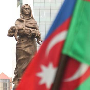 Khojaly Genocide Memorial in Baku. Khojaly massacre monument