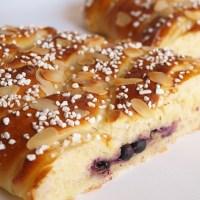 Vetelängd med vaniljkräm och blåbär