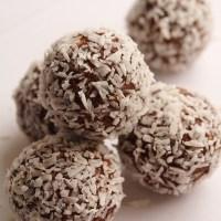 Chokladbollar med jordnötssmör