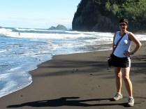 Another black sand beach! YAY!