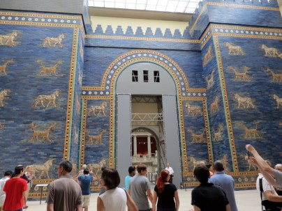 Ishtar Gate, probably its most important piece aside from the Pergamon altar, which is closed for renovations, 6th century BC