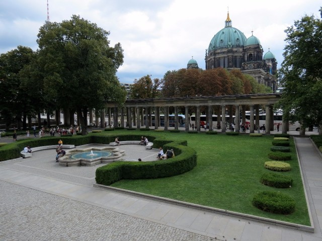 Museum Island entrance with Berliner Dom in the background