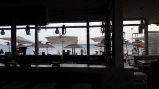 Inside a beach cafe