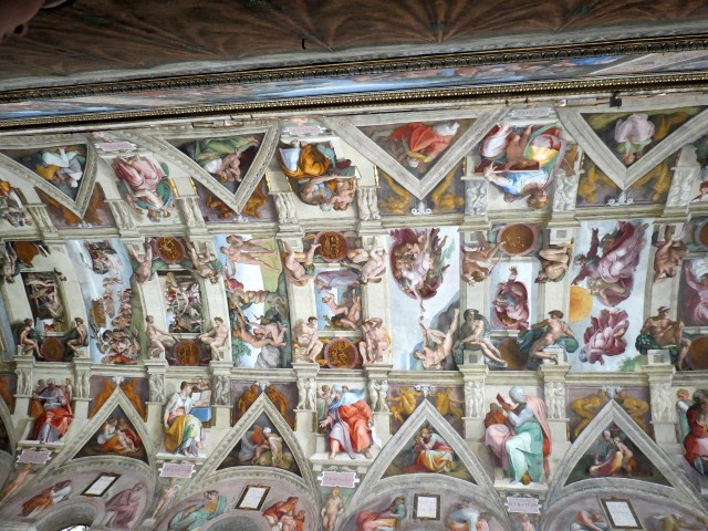 A stolen photo of the Sistine Chapel