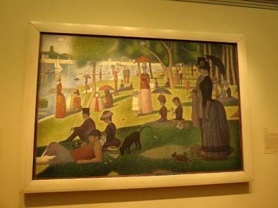 Georges Seurat's best known painting, A Sunday on La Grande Jatte, 1884-1886