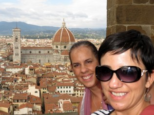 View of Florence from the clock tower at Palazzo Vecchio