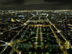 The top of the Eiffel