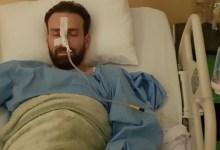صورة خروج الفنان نضال الشافعي من المستشفى بعد إستقرار حالته الصحية