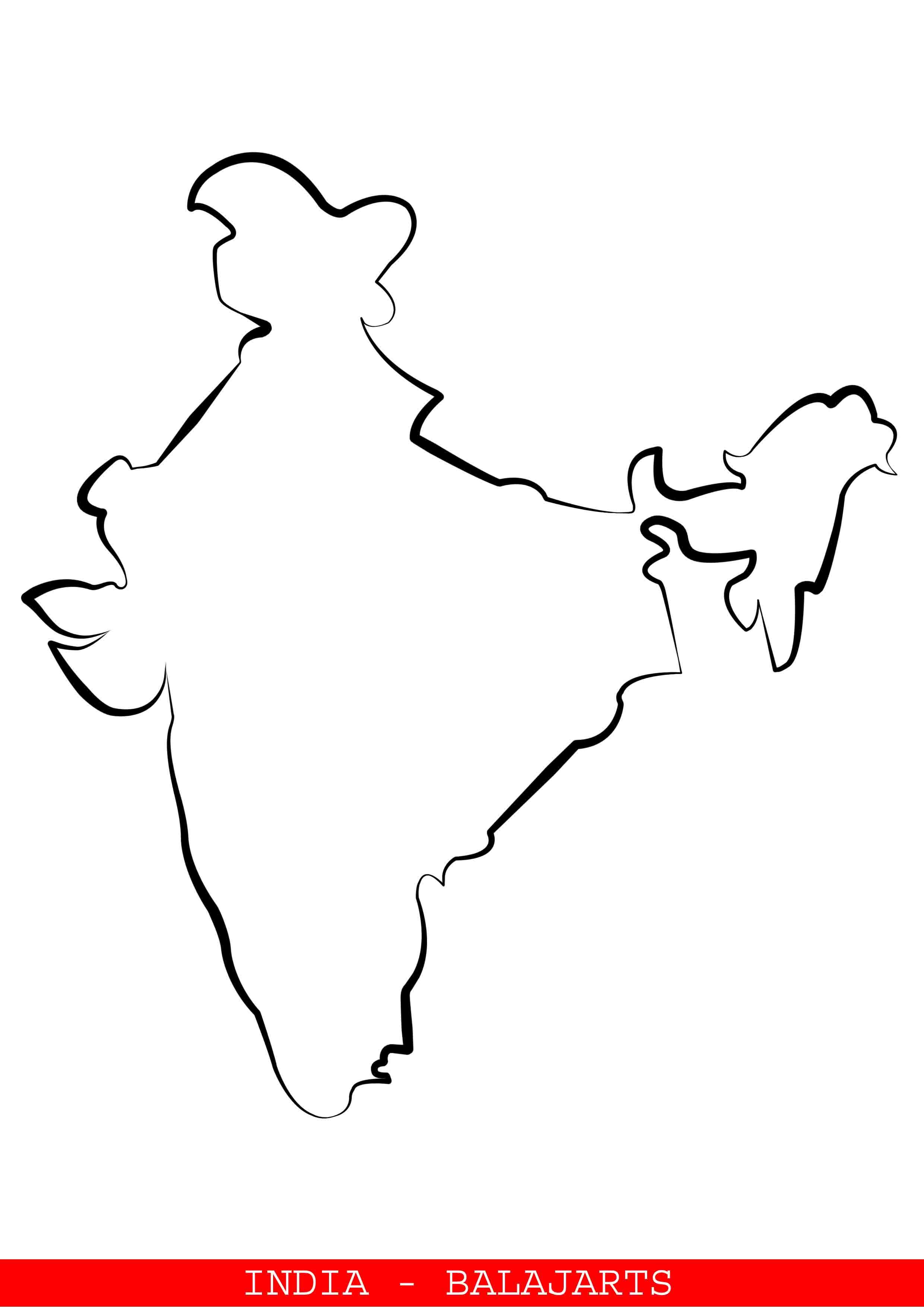 How To Draw India : india, INDIA, BALAJARTS, Balaj, 9345211057