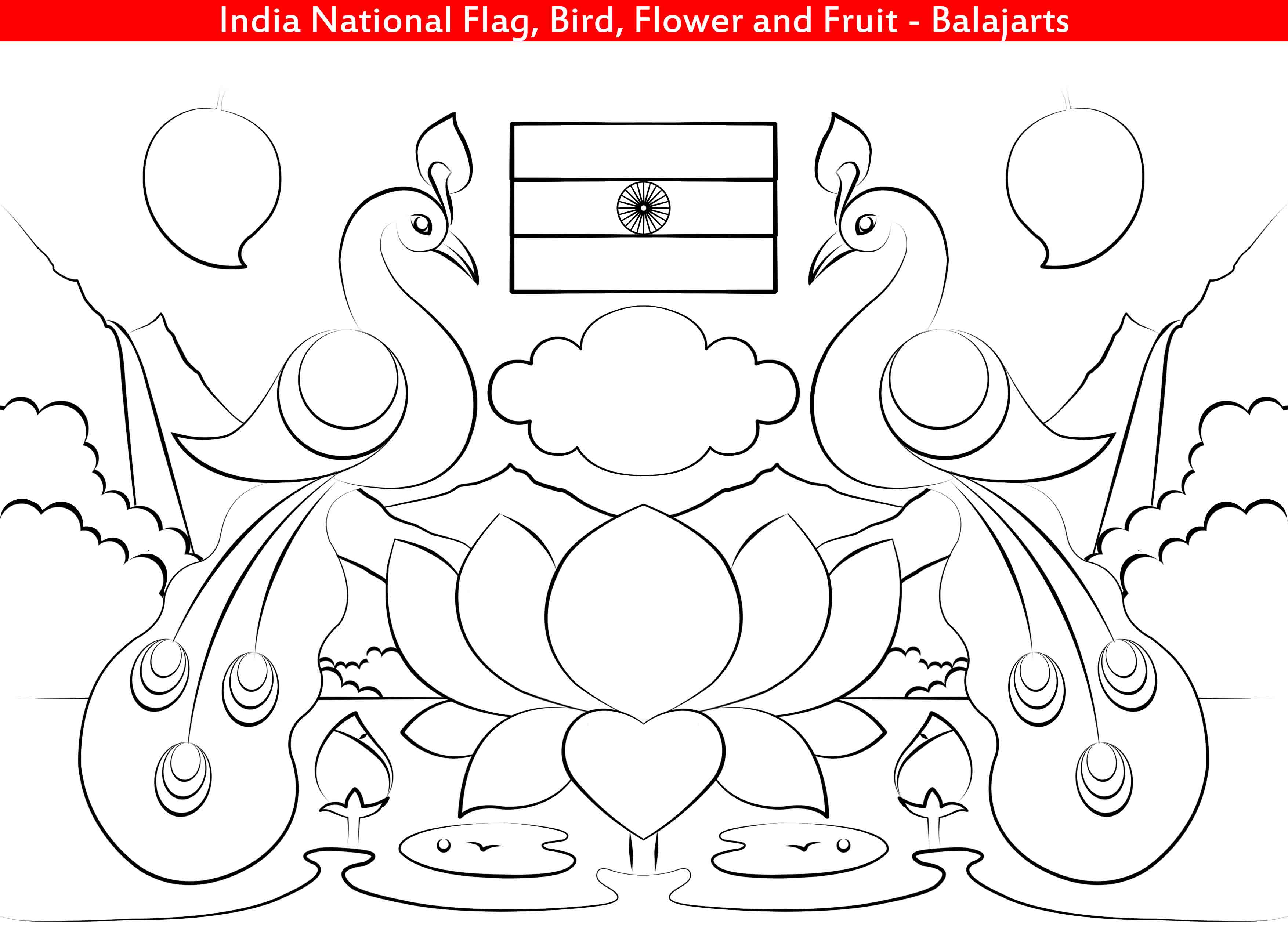 National Symbols Of India Coloring Pages