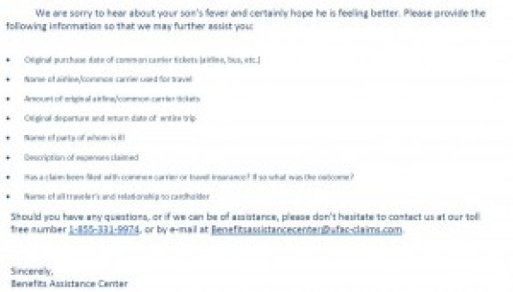 first citi email response