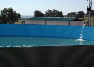 Instalación de riego por goteo en olivar 9×6 m en una finca de 140 Ha en Espeluy (Jaén).