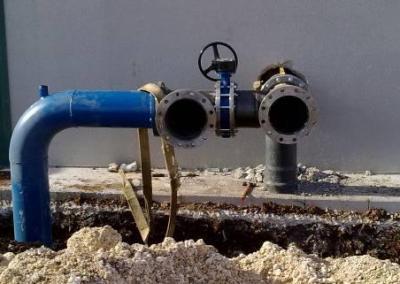 Instalación de riego por goteo en olivar en la finca Las Zayuelas en el t.m. de Écija (Sevilla).